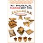 Kit Festa Provençal Flor 04 Mdf Cru 20 Peças