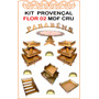 Kit Festa Provençal 20 Peças Flor 02 Mdf Cru