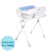 Banheira Para Bebê Millenia - Cubes Azul Burigotto