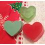 2 Sabonetes Artesanais Coração (natal)