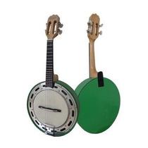 Banjo Rozini Verde Elétrico Cápsula Passíva Leson Somos Loja