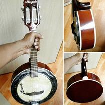 Banjo Marquês Color Castanho Caixa Larga De 8 - Bm 1202