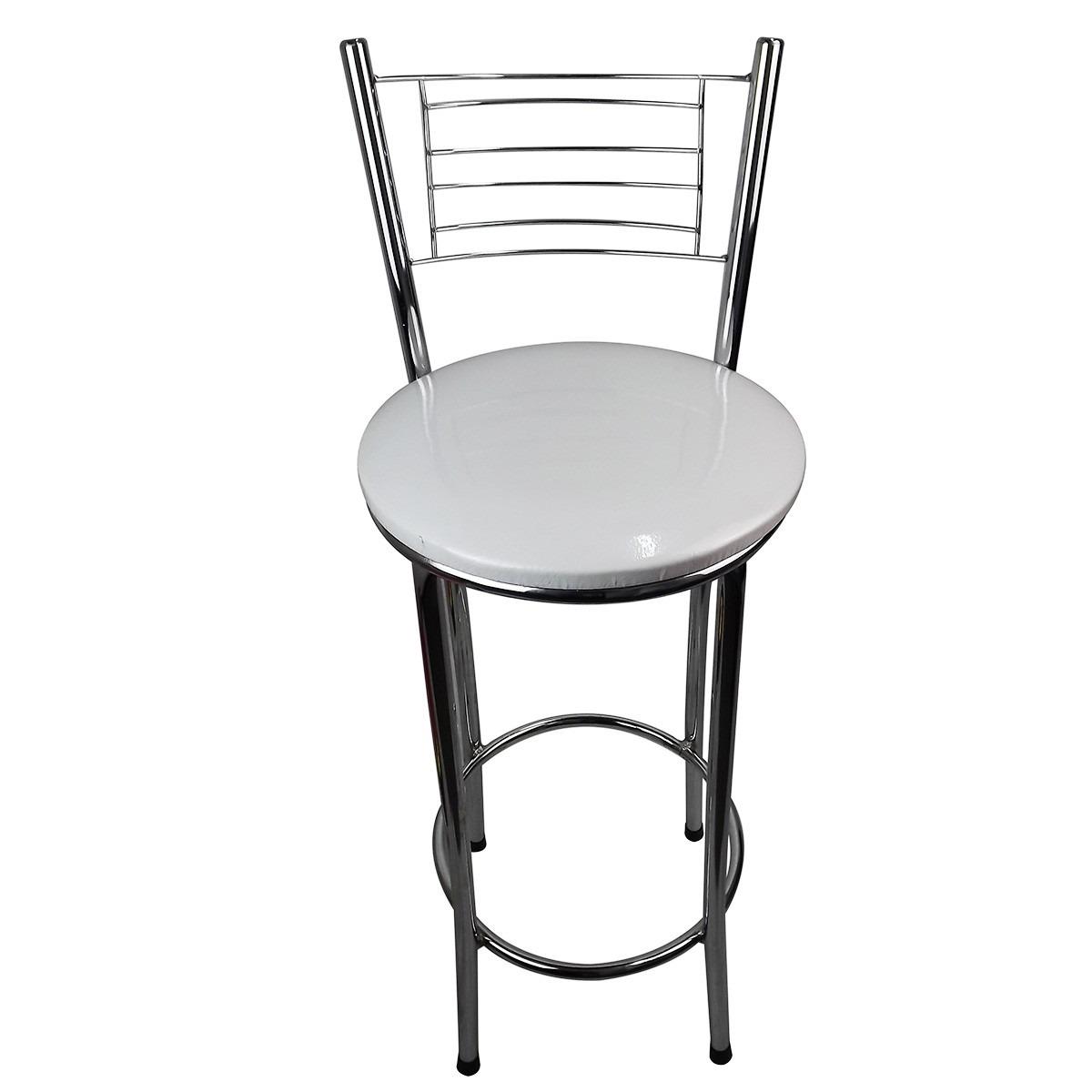 #61666A banqueta cozinha aço cromado com assento corino branco 1200x1200 px Banquetas Para Cozinha Americana No Mercado Livre #1575 imagens