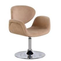 Cadeira Fixa, Poltrona Tulipa Giratória 360° Linda - Bege
