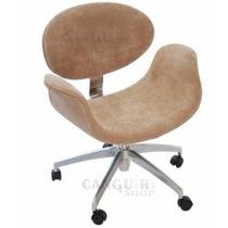 Cadeira Poltrona Tulipa - Veludo - Giratória 360 - Rodinha