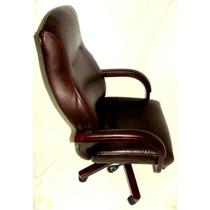 Frete Grátis! Cadeira Executiva Couro/madeira - Promoção!