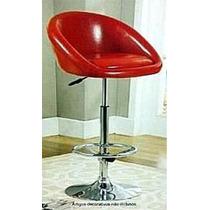 Banqueta Alta Cozinha E Bar Cadeira Vermelha E Cromada
