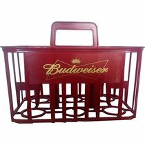 Cesto / Cestinha / Caixa Para 6 Vasilhames Litrão Budweiser