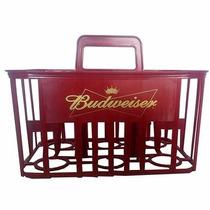 Cestinha Cerveja Litrao Budweiser 6 Vasilhames Engradado
