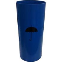 Cesto Plastico Porta Guarda Chuva Azul Com Adesivo