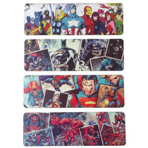 Kit 4 Placa Decorativa Super Heróis Marvel Quarto Infantil