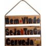 Placa Decorativa Para Decoração De Churrasqueira Bem Vindo
