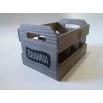 Engradado Brahma 6 Garrafas De Cerveja Caixa De Madeira