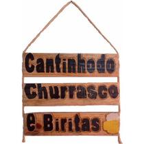 Placa Decorativa Para Decoração De Churrasqueira Cantinho
