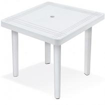 Mesa Plástica Quadrada Desmontável - 89 Cm - Branca
