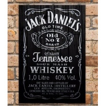 Placa Decorativa Mdf Retrô Jack Daniel