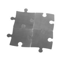 Descanso Porta Copos Formato Quebra Cabeça - Aço Inox