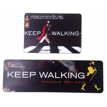 Kit 2 Placa Decorativa Keep Walking Bares Churrasqueiras
