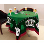 Toalha D Mesa Jogos Poker +4 Taças Cerveja Stella + Baralho