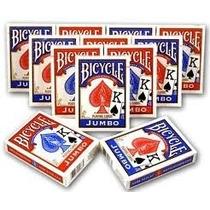Baralho Bicycle Jumbo Vermelho Ou Azul Naipe Grande Novo!