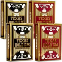 4 Baralho Copag Texas Holdem Poker 2 Preto 2 Vermelho Lacrad