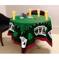 Toalha Mesa Jogos +4 Copo Cerveja Budweiser + Baralho Pocker