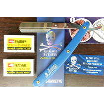 Navalhete Ingles Bluebeards Revenge+10 Laminas Feather Japan