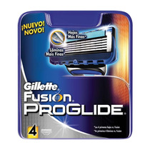 Gillette Fusion Proglide Refil C/4 Cartuchos