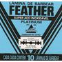 Feather Cartela C/60 Lâminas De Barbear Com Frete Grátis!
