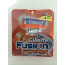 Refil Para Aparelho De Barbear Gillette Fusion Power Com 4
