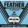 Feather-laminas De Barbear Japonesa (10cartelas)-600 Laminas