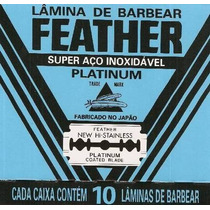 Lâmina De Barbear Feather Platinum Cartela Com 60 Unidades