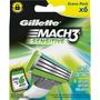 Carga Refil Gillette Mach 3 Sensitive Com 6 Un