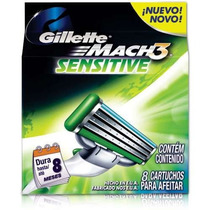 Carga Gillette Mach3 Sensitive Com 8 Unidades