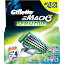 Carga Gillette Mach3 Sensitive C/ 08 Unidades