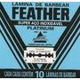 Feather-laminas De Barbear Japonesa (10cartelas)-600 Laminas