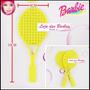 Par De Raquetes ( Tenis ) Para Barbie * Susi * Ken * Blythe