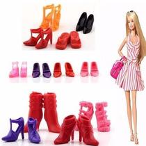 Lindo Kit Com 12 Pares Sapato P/ Barbie - Não Repete Modelos