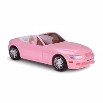 Carro Conversível Para Barbie Roadster Rosa Grande 46 Cm