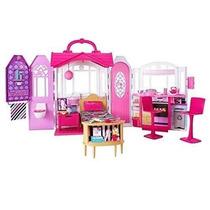 Nova Casa De Férias Barbie Som E Luz - Mattel Frete Grátis