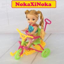 Bicicleta Com Boneca Bebê Estilo Kelly * Irmã Da Barbie