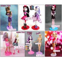 Lote Com 8 Suportes Coloridos Para Bonecas Barbie Susi Ken