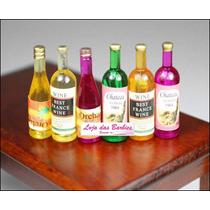 Rement * Lote Com 6 Garrafinhas De Bebida Para Boneca Barbie
