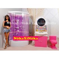 Banheiro Completo * Móveis Para Casa Da Boneca Barbie