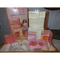 Barbie Anos 80 - Fogão/forno Microondas Coleção Estilo Rosas
