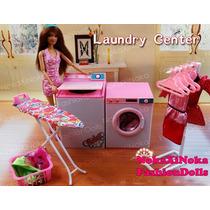 Luxuosa Lavanderia Completa Para Boneca Barbie * Nova