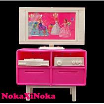 Rack Com Tv E Video Para Sala Da Casa Boneca Barbie