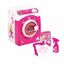 Maquina De Lavar Roupas Da Barbie = Funciona De Verdade Novo