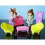 Lote 2 Bonecas Paula E Móveis Casa Tipo Kelly Barbie Mattel