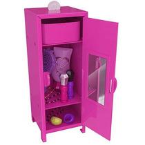 Mini Armário Da Barbie Brinquedo Bblo1 Intek